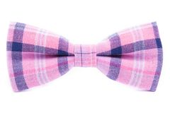 Checkered bow tie isolated. On white background Royalty Free Stock Photo