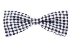 Checkered bow tie isolated. On white background Stock Photos