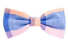 Checkered bow tie isolated. On white background Royalty Free Stock Images