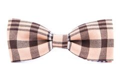 Checkered bow tie isolated. On white background Stock Image