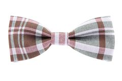 Checkered bow tie isolated Stock Images