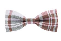 Checkered bow tie isolated. On white background Stock Photo