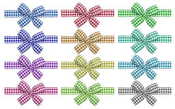 Checkered bows Royalty Free Stock Photo
