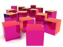 Checkered boxes Stock Image