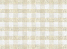 Checkered brown tablecloth or fabric texture Stock Images