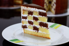 Checkered Cake Stock Photography