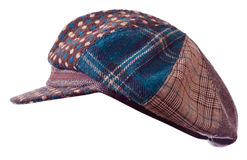 Checkered  cap on white Royalty Free Stock Image