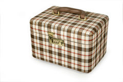 Checkered case. For jewellery or make up Stock Photos