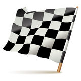 Checkered or chequered flag. Vector illustration Motor sport flag  on a white background Royalty Free Stock Images
