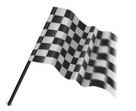 Checkered or chequered flag on a white background. Motor sport flag isolated on a white background Stock Photo