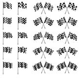 Checkered, Chequered Flags Motor Racing Royalty Free Stock Images