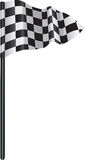 Checkered, chequered golf flag Stock Image