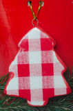 Checkered christams tree Stock Photography
