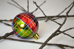 Checkered Christmas ball Royalty Free Stock Images