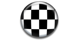 Checkered circle icon Royalty Free Stock Photography