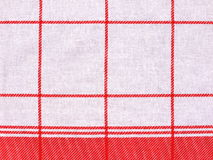 Checkered cloth. Red and white checkered cloth stock photo