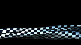 Checkered Cloth Lower Third, seamless loop, Alpha stock video footage