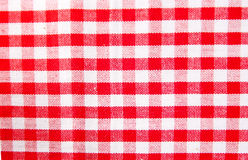 Checkered cloth. A red checkered cloth texture Royalty Free Stock Photography