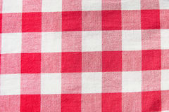 Checkered cloth. Texture close-up Royalty Free Stock Photography