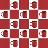 Checkered Coffee Background Stock Image