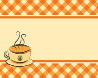 Checkered coffee vector background Royalty Free Stock Photography