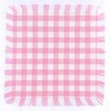 Checkered cor-de-rosa foto de stock