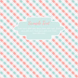 Checkered coral and turquoise card template Stock Photography