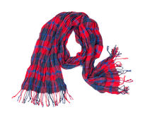 Checkered cotton scarf Stock Images
