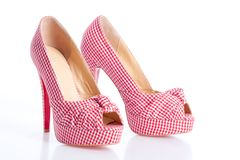 Checkered court shoes Royalty Free Stock Photos