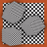 Checkered Cubes Royalty Free Stock Photography