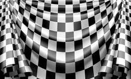 Checkered Curtain Royalty Free Stock Photo