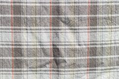 Checkered curtain texture Stock Images