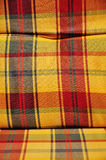 Checkered cushioned textile Stock Image