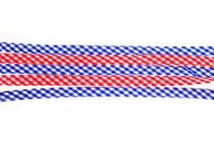 Checkered decorative ribbons Stock Photography
