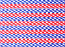 Checkered decorative ribbons. (red and blue Stock Photos