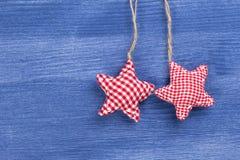 Checkered Dekoration der Weinlese Weihnachts Lizenzfreie Stockfotografie