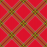 Checkered diagonal tartan fabric seamless pattern Royalty Free Stock Photo