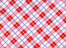 Checkered dishcloth background. With red cells stock photography