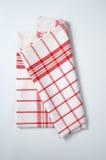 Checkered dishtowel Stock Photo