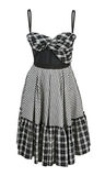 Checkered dress Royalty Free Stock Images