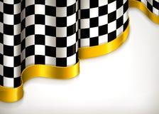 Checkered Einladungshintergrund Lizenzfreies Stockbild