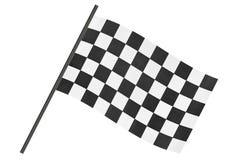 Checkered Endemarkierungsfahne stockfotos