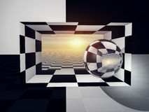 Checkered Entrance Horizon stock photo