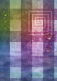 The checkered fabric. The multi-coloured Texture of Fabric royalty free illustration