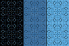 Checkered fabric background. Black and blue seamless pattern Stock Image