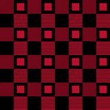 Checkered fabric background. Black and red seamless pattern Royalty Free Stock Images