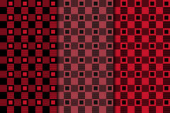 Checkered fabric background. Black and red seamless pattern Stock Photography