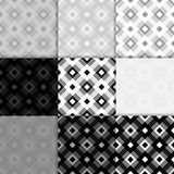 Checkered fabric background. Black and white seamless pattern. Vector illustration Royalty Free Stock Photo