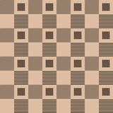Checkered fabric background. Brown and beige seamless pattern Royalty Free Stock Image