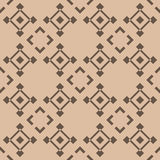Checkered fabric background. Brown and beige seamless pattern Stock Photo